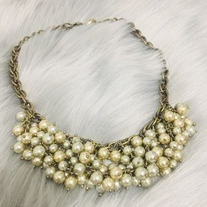 Mother of Pearl Tone  Costume Necklace
